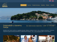 Frontpage screenshot for site: Taverna Galija, Cavtat (http://www.galija.hr)