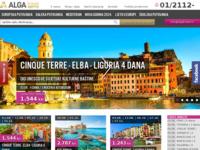 Frontpage screenshot for site: Alga d.o.o. turistička agencija (http://www.algatravel.hr/)