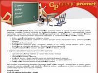 Slika naslovnice sjedišta: Gregić promet d.o.o. (http://www.gregicpromet.hr)