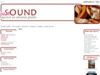 Frontpage screenshot for site: Just sound - Hi-fi i CD shop Matulji (http://www.justsound.hr)