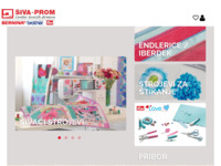 Frontpage screenshot for site: Centar šivaćih strojeva Bernina Brother (http://www.siva-prom.hr)