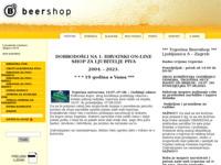 Frontpage screenshot for site: Beershop (http://www.beershop.hr/)