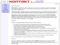 Frontpage screenshot for site: (http://www.netkontakt.biz/index.html)