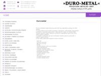 Slika naslovnice sjedišta: Duro-metal, proizvodnja metalne galanterije (http://www.duro-metal.hr/)