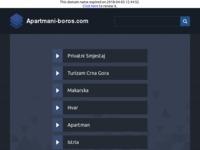 Frontpage screenshot for site: Apartmani Boros - privatni smještaj u Novigradu (http://www.apartmani-boros.com)
