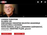Frontpage screenshot for site: Koncertna dvorana Vatroslava Lisinskog (http://www.lisinski.hr)
