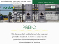Slika naslovnice sjedišta: Pireko, proizvodnja i usluge (http://www.pireko.hr)