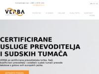Frontpage screenshot for site: Sudski tumač za engleski i njemački jezik (http://www.verba-strani-jezici.hr/)