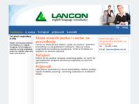 Frontpage screenshot for site: Lancon English Language Consultancy (http://www.lancon.hr/)
