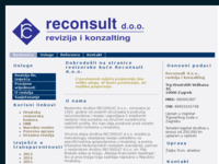 Frontpage screenshot for site: (http://www.reconsult.hr/)
