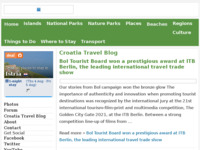 Frontpage screenshot for site: Blog Hrvatski turizam i putovanja (http://www.find-croatia.com/blog/)