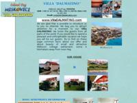 Frontpage screenshot for site: Villa Dalmatino (http://www.dalmatia-channel-of-brac.com/VillaDalmatino.htm)