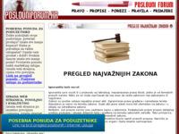 Frontpage screenshot for site: Aktualan pregled najvažnijih zakona i propisa (http://www.poslovniforum.hr/zakoni/)