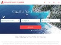 Frontpage screenshot for site: Croatia Yacht Charter (http://www.croatia-yacht-charter.com)