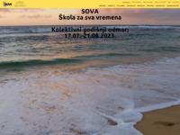 Frontpage screenshot for site: Sova - Zagreb (http://www.sova.hr/)