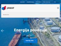 Frontpage screenshot for site: Jadranski naftovod d.d. (http://www.janaf.hr/)