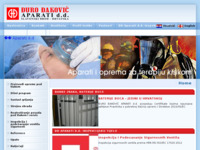 Frontpage screenshot for site: Đuro Đaković Aparati d.d. (http://www.dd-aparati.hr)