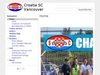 Frontpage screenshot for site: Hrvatsko sportsko društvo (http://www.croatiasc.bc.ca)