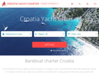 Frontpage screenshot for site: Croatia Yacht Charter (http://www.croatia-yacht-charter.com/)