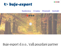 Frontpage screenshot for site: Buje - export d.d. (http://www.buje-export.hr)