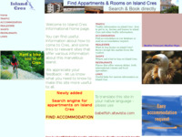 Frontpage screenshot for site: Otok Cres (http://www.island-cres.info)