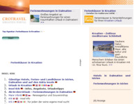 Frontpage screenshot for site: (http://www.kroatien-links.de/insel-krk.htm)