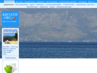 Frontpage screenshot for site: Kroatie.org (http://www.kroatie.org)