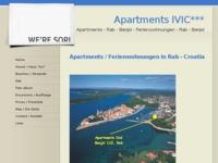 Frontpage screenshot for site: Apartmani Ivić - Rab (http://www.rab-banjol.com/)