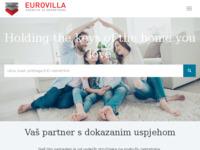 Frontpage screenshot for site: Eurovila d.o.o. agencija nekretnina, Zagreb (http://www.eurovila.hr/)