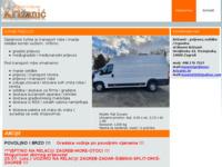 Slika naslovnice sjedišta: Križanić - kombi prijevoz i usluge (http://www.prijevoz-krizanic.hr)