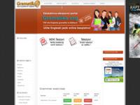 Frontpage screenshot for site: Gramatika engleskog jezika (http://www.gramatika.org/)
