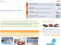 Frontpage screenshot for site: Otok Korčula - Mediterano putnička agencija (http://www.korculaotok.com/)