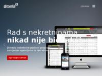 Slika naslovnice sjedišta: Dimedia nekretnine - software za vođenje nekretnina (http://www.dimedianekretnine.com)