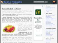 Frontpage screenshot for site: Kućne financije - portal na temu upravljanja kućnim financijama (http://www.kucnefinancije.com)