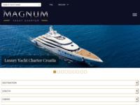 Frontpage screenshot for site: Magnum Nautica, Yacht Charter Croatia (http://www.magnumnautica.com/)