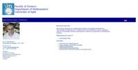 Frontpage screenshot for site: Saša Krešić-Jurić (http://www.pmfst.hr/~skresic)