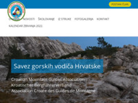 Frontpage screenshot for site: Savez gorskih vodiča Hrvatske (http://www.sgvh.hr/)