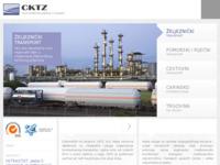 Frontpage screenshot for site: CKTZ d.d. Centar za kombinirani transport Zagreb d.d. (http://www.cktz.hr)