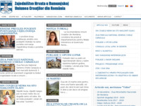 Frontpage screenshot for site: Zajedništvo Hrvata u Rumunjskoj (http://www.zhr-ucr.ro)