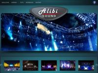 Frontpage screenshot for site: Alibi Sound (http://www.alibi-sound.com/)