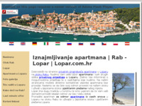 Frontpage screenshot for site: Apartmani Lopar (http://www.lopar.com.hr/)