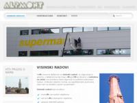 Frontpage screenshot for site: Alpmont visinski radovi (http://www.alpmont.hr)