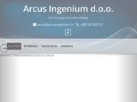Frontpage screenshot for site: Arcus Ingenium d.o.o. (http://www.arcusingenium.hr)