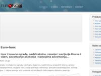 Frontpage screenshot for site: Euro inox (http://www.euro-inox.hr/)