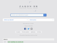Frontpage screenshot for site: Zakon.hr (http://www.zakon.hr/)