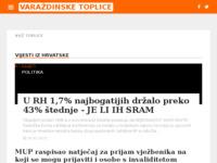 Slika naslovnice sjedišta: Internet portal - Grad Varaždinske Toplice (http://varazdinske-toplice.net/)