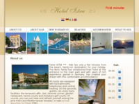 Frontpage screenshot for site: Hotel Istra, Rab (http://www.hotel-istra.hr/)