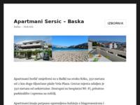 Frontpage screenshot for site: Apartmani Seršić, Baška (http://www.apartmani-sersic.com)