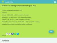 Frontpage screenshot for site: Dječji Vrtić Sisak Stari (http://www.dvss.hr/)