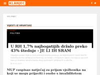 Slika naslovnice sjedišta: Internet portal - Grad Klanjec (http://www.klanjec.info/)